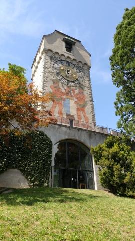 Facade of the clock tower.