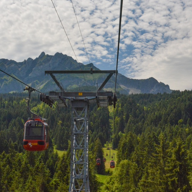 View of the Pilatus massif from the tramway.