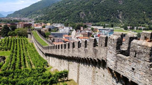Crenelated walls of Castelgrande.